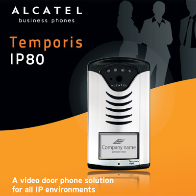 alcatel temporis ip80 voip video door phone intercom. Black Bedroom Furniture Sets. Home Design Ideas